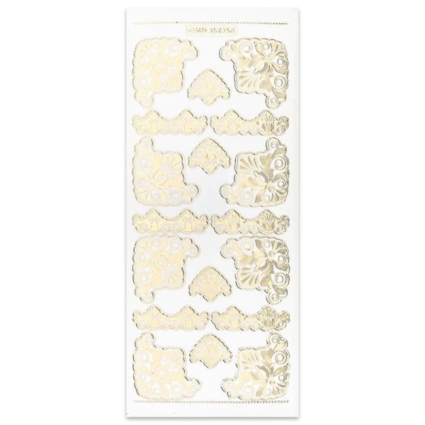 Gravur-Sticker Ornamente II, gold