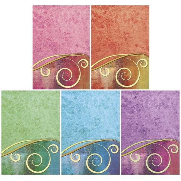"""Motiv-Grußkarten, Schwung """"Farbenzauber"""", B6, inkl. Umschläge, 10 Stück"""