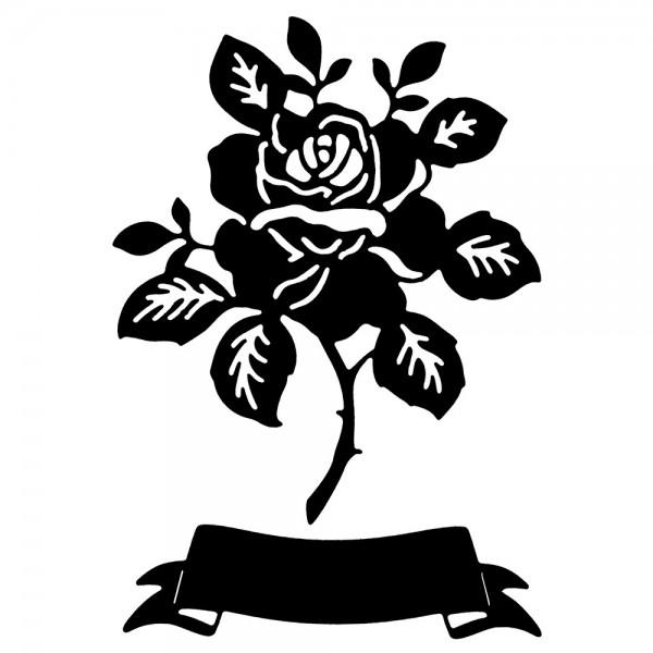 Stanzschablonen, Rose, 2 Stück