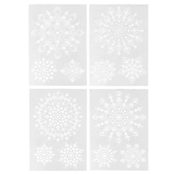 Design-Schablonen Easy Dotting 3, DIN A4, verschiedene Designs, Lochgröße: 1-9mm, 4 Stück
