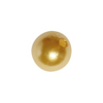 Perle, Ø1 cm, 50 Stück, gold