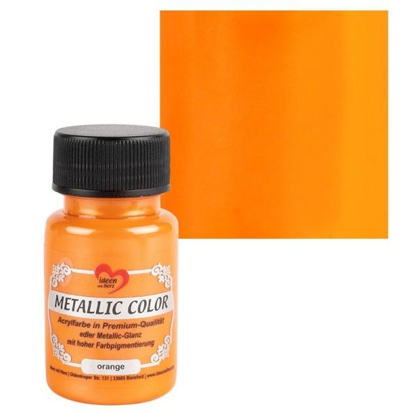 Metallic Color, orange, 50ml