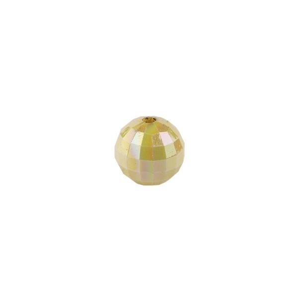 Perlen, facettiert, Ø 4 mm, hellgold-irisierend, 200 Stk.