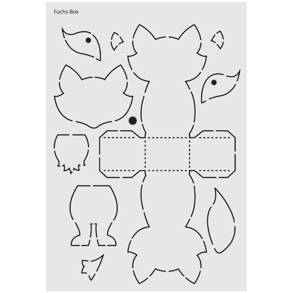 "Design-Schablone Nr. 2 ""Fuchs-Box"", DIN A4"