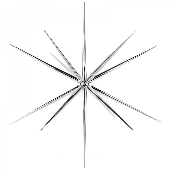 3-D Steckstern, Ø 36cm, 14-strahlig, inkl. Öse zum Aufhängen, silber