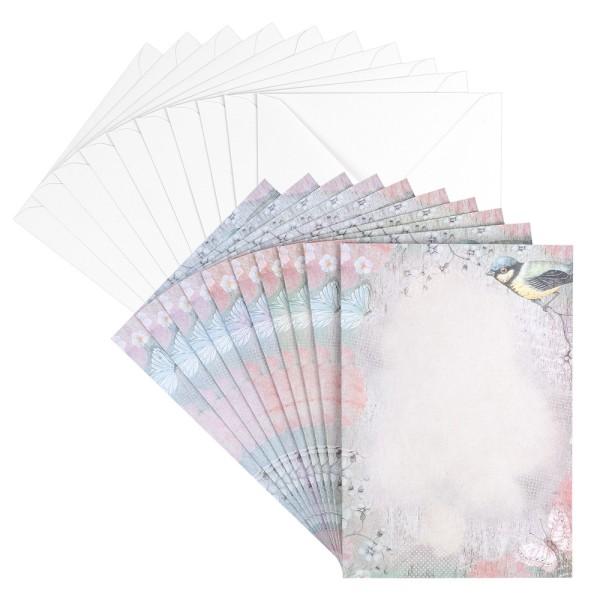 Motiv-Grußkarten, Frühlingstraum in Pastell, B6, versch. Designs, inkl. Umschläge, 10 Stück