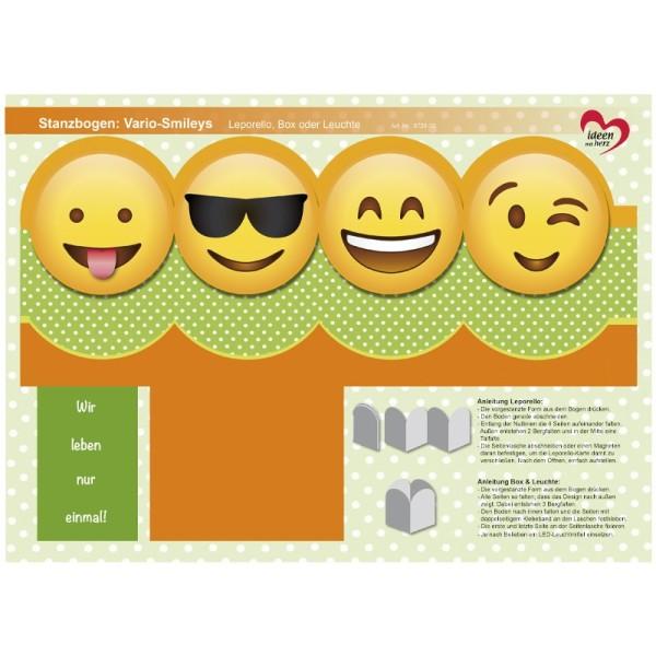 Stanzbogen, Vario-Smileys, DIN A4, Design 9