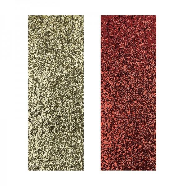 "Stoffe Royal ""Glamour-Style"", selbstklebend, 10 x 29 cm, 2 Stück, gold & rot"