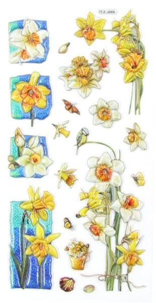 Relief-Sticker, Traumhafte Blütenwelt, 17,5x9cm, Design 9