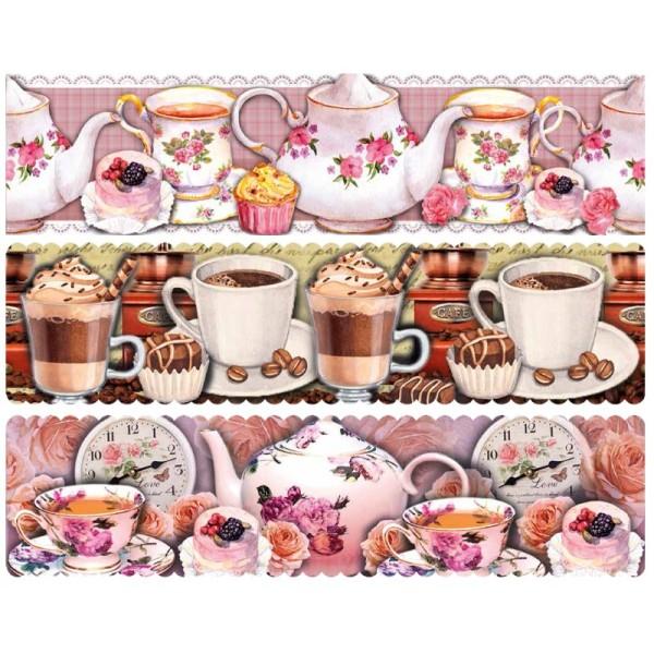 "Zauberfolien ""Kaffee & Tee"", Schrumpffolien für Ø10cm, 8,5 cm hoch, 6 Stück"
