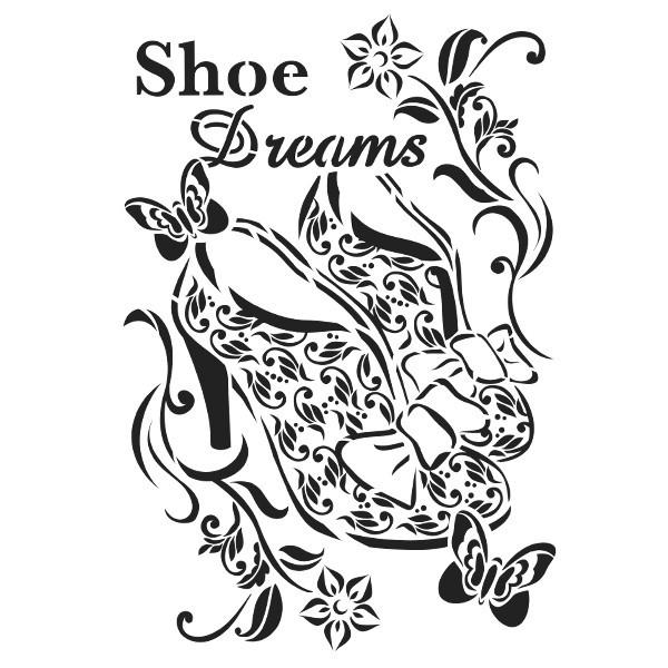 Laser-Kunststoff-Schablone, DIN A4, Shoe Dreams