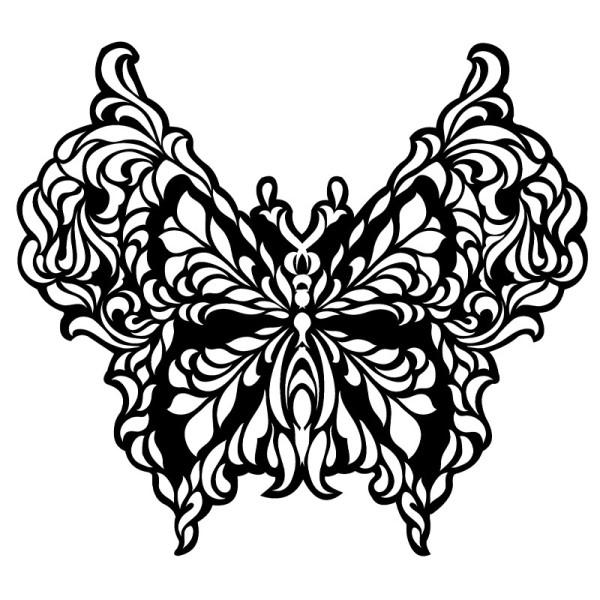 Silhouetten-Laser-Schablone, 28cm x 30cm, Schmetterling 2