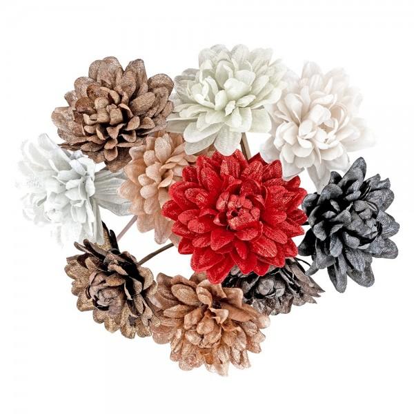 Deko-Blüten, Dahlien, Ø 7cm, verschiedene Farben, 10 Stück
