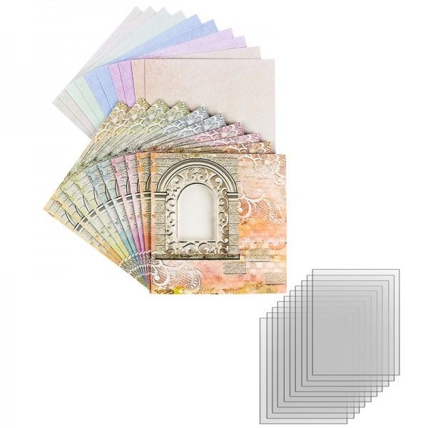 """Sichtfolien-Grußkarten """"Fenster 2"""", 16cm x 16cm, inkl. Einleger & Umschläge, 40-teilig"""