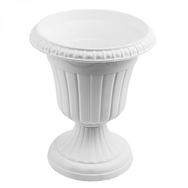 """Blumenspindel """"Milano"""", Ø15cm, 18cm hoch, Kunststoff, weiß"""