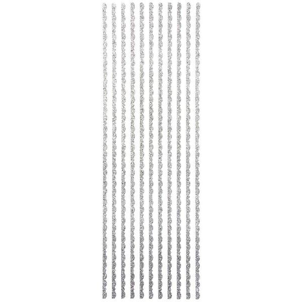 """Glitzer-Bordüren """"Lilia"""", Sticker-Linien, 30cm lang, 4mm breit, silber"""