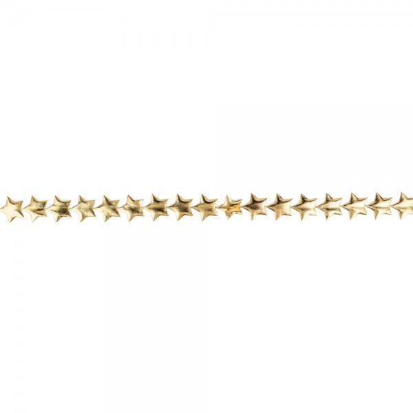Deko-Band Sterne, hellgold-metallic, Stern: Ø 2 cm, Länge: 3 m