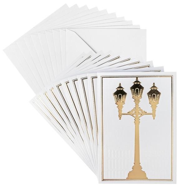 Grußkarten, Laterne, B6, inkl. Umschläge, 10 Stück