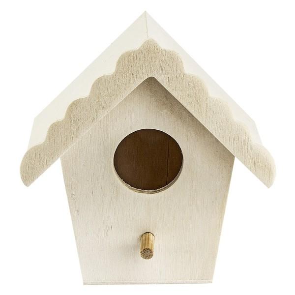 Vogelhäuschen aus Holz, Design 3, 9cm x 9cm x 7cm