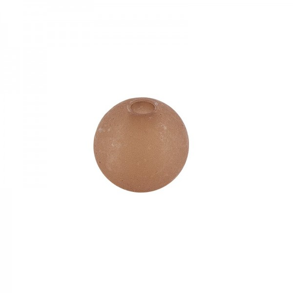 Perlen, gefrostet, Ø 8mm, 100 Stück, braun