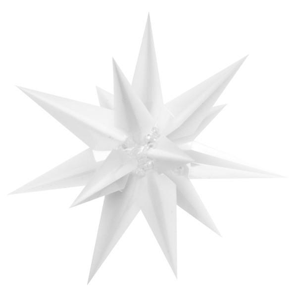 Acryl-Dekosterne, 2er Set, ca. 8 cm, weiß