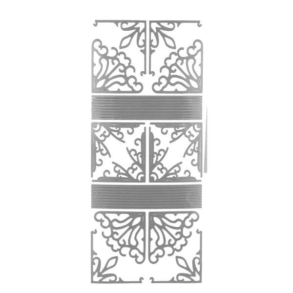 Sticker Ecken & Linien, silber