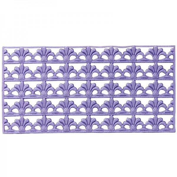 Wachs-Bordüren, Französische Lilie, 5 Bordüren à 2 x 10 cm, dunkel-flieder