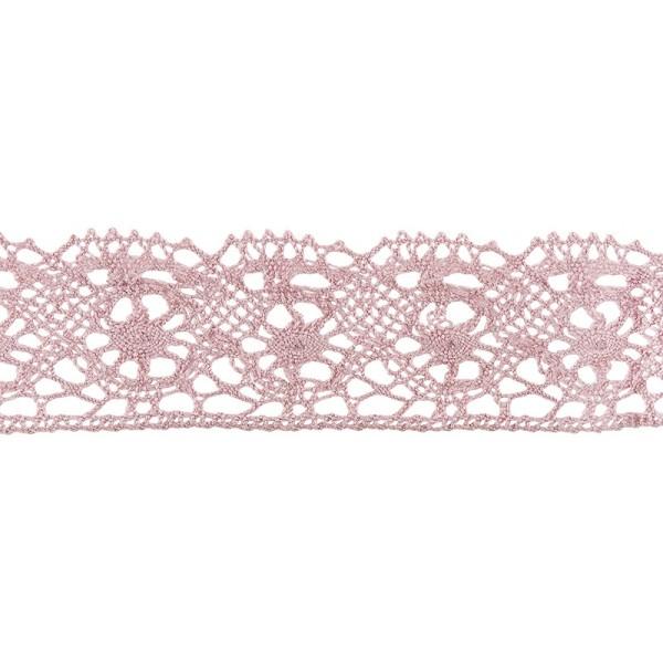 Häkelspitze Design 4, 2,8cm breit, 2m lang, altrosa