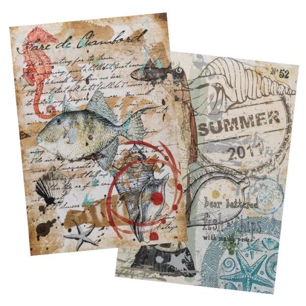 Reispapiere, Nostalgie 6, DIN A4, 2 Designs