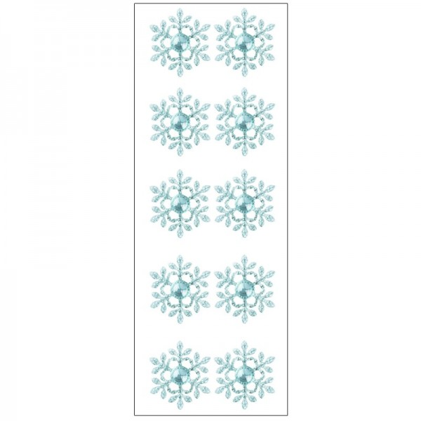 Kristallkunst, Eiskristall, selbstklebend, 10cm x 30cm, hellblau