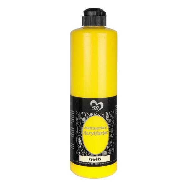 "Acrylfarbe ""Multisurface"", gelb, 500ml"