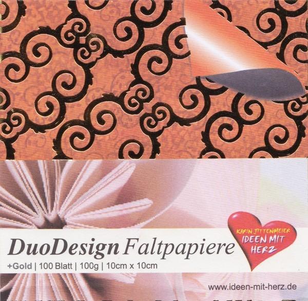DuoDesign Faltpapier, folienveredelt, 10 x 10 cm, 100 Blatt