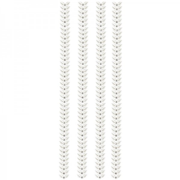 "Premium-Schmuck-Bordüren ""Blattranke"", selbstklebend, 29cm, perlmutt"