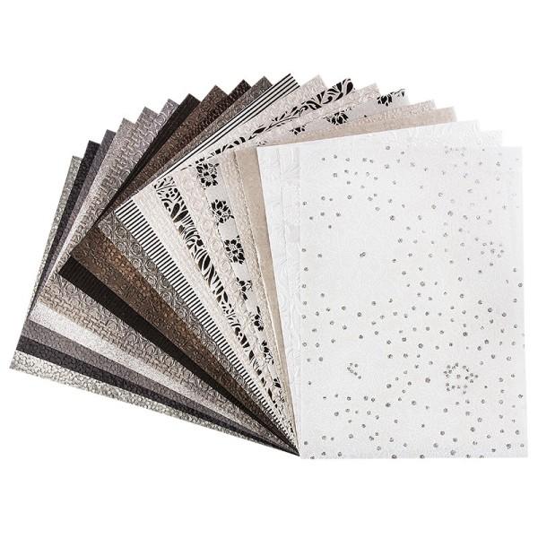 Naturpapiere, India Kollektion, DIN A4, Block mit 20 Blatt, Sortierung 2