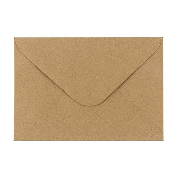 Umschläge, Kraftpapier, DIN C6 (11,4cm x 16,2cm), 110 g/m², 100 Stück