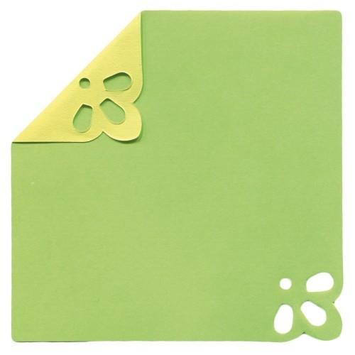 DuoColor Stanz-Faltpapiere, 8 x 8 cm, grün, 2 Ecken, 100 Blatt
