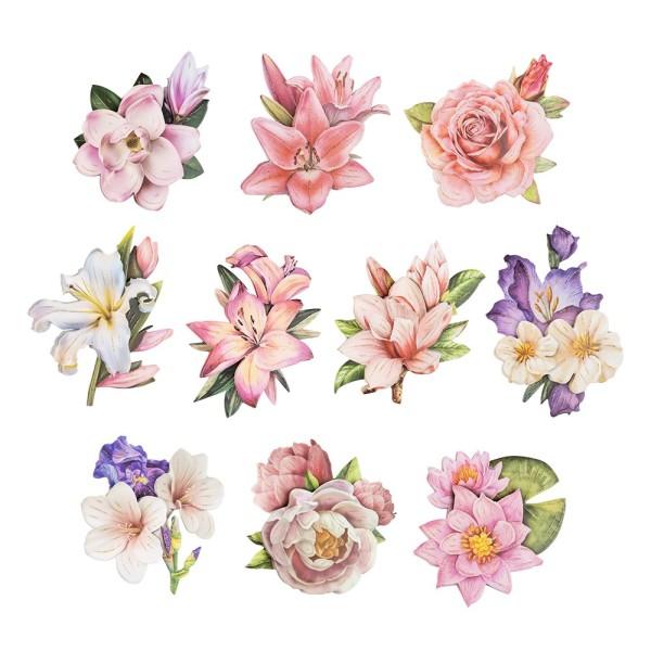 3-D Motive, Edle Blüten 2, 7,5-9,7cm, 10 Motive