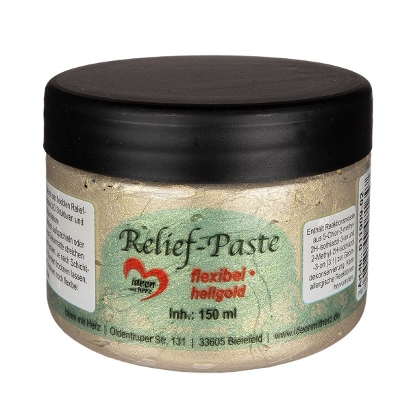 Relief-Paste, flexibel, hellgold, 150ml