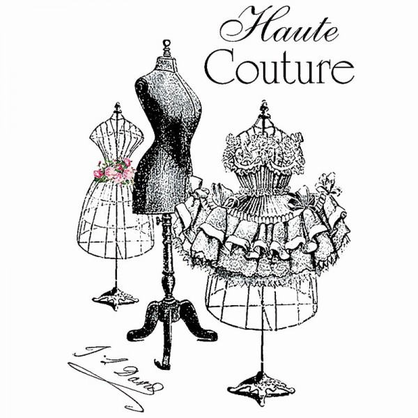 Color Bügeltransfers, DIN A4, filigran ohne Hintergund, Haute Couture