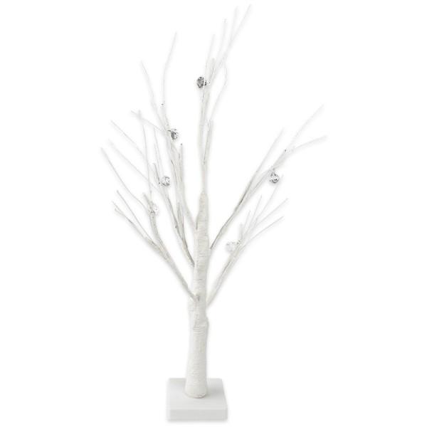 LED-Baum, mit Deko-Diamanten, 60cm hoch, 18 LED-Lämpchen in Warmweiß