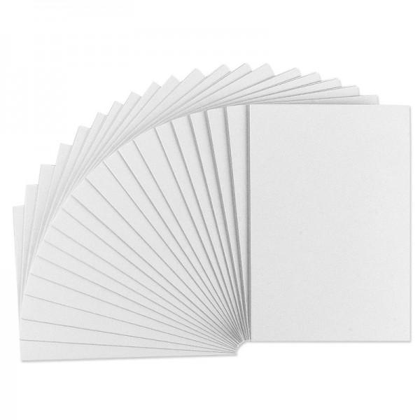 Grußkarten weiß, 215g/m², genutet, B6, 20 Stück