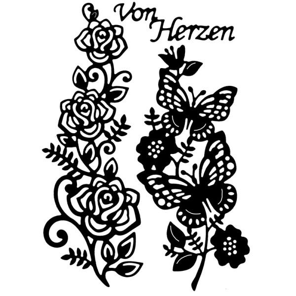 Stanzschablonen, Blumenranken, 3 Stück