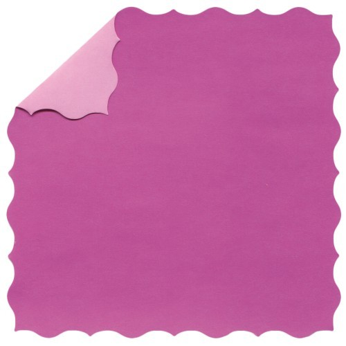 DuoColor Stanz-Faltpapiere, 13 x 13 cm, pink, Büttenrand, 60 Blatt