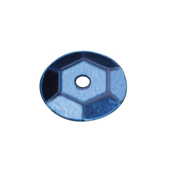 Pailletten, metallic, 15 g, Ø6 mm, blau