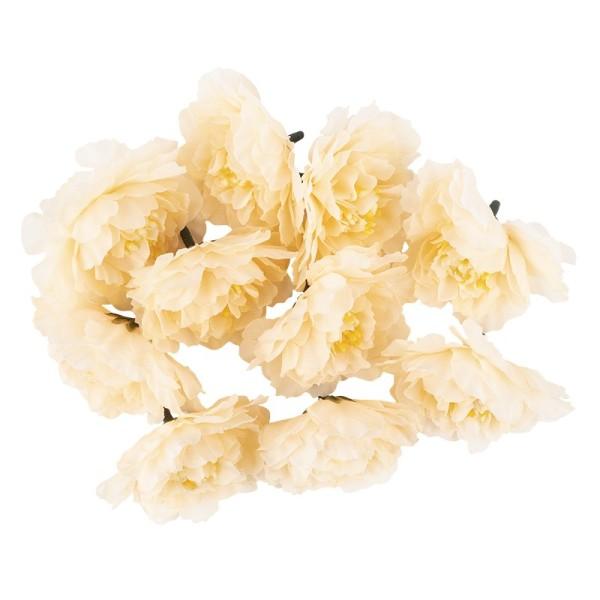 "Deko-Blüten ""Kamelie"", Ø 6cm, lachs, 10 Stück"