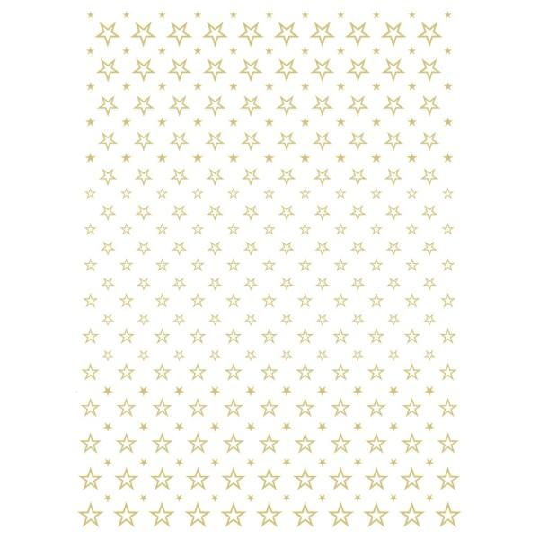 Metallic-Bügeltransfer, Hintergrund, Sterne, 25cm x 34cm, gold glänzend