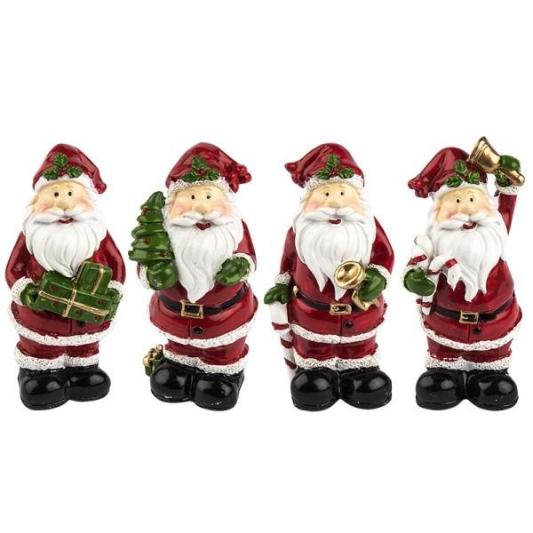 Deko-Figuren, Weihnachtsmänner, 7,5cm, 4 Stück
