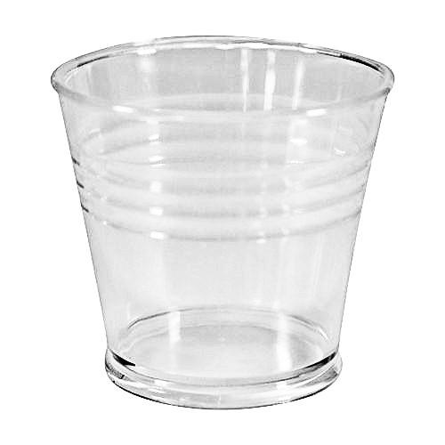 Acryl-Eimer, Ø4,2 cm, 5,3 cm hoch, klar, 3 Stück