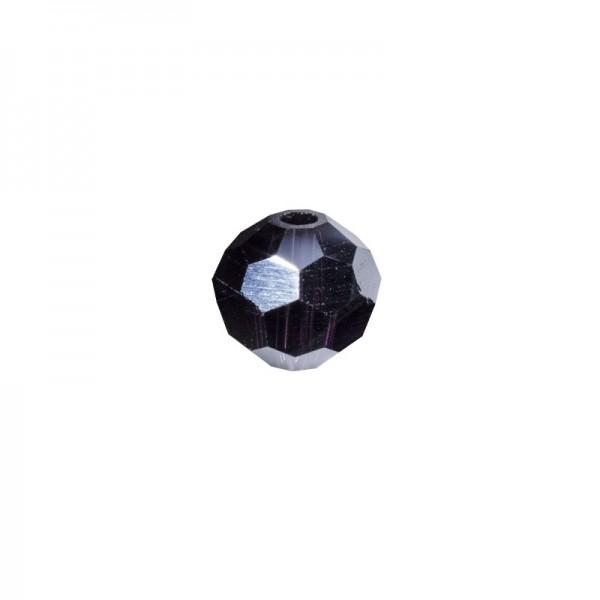 Glas-Perlen, transparent, Ø6 mm, 20 Stück, amethyst-irisierend