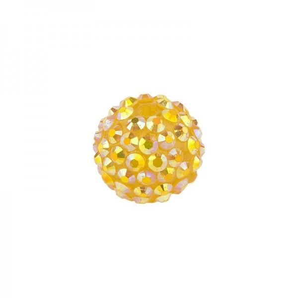 Kristall-Perlen, Ø14 mm, 10 Stück, gold-irisierend